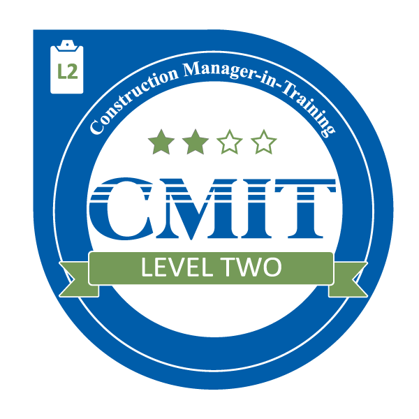 level construction manager cmit badge training program handbook apply management certification