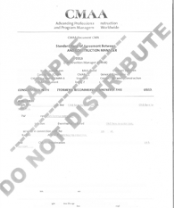 Contract Documents: Construction Manager At-Risk